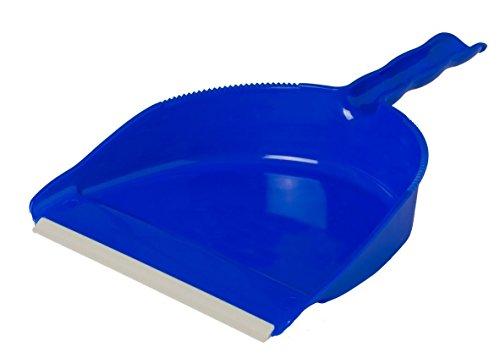 Parodi&Parodi, art. 441, paletta per la polvere in plastica con gommino antiscivolo, lucida e robusta utilizzabile per scopare in casa e giardino, colore blu o verde assortiti
