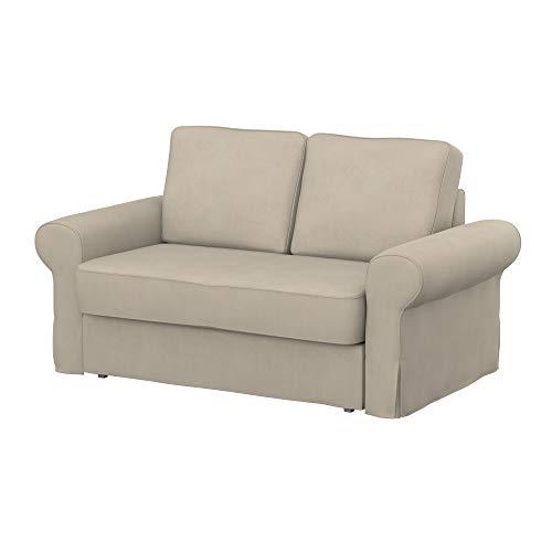 Soferia Funda de Repuesto para IKEA BACKABRO sofá Cama de 2 plazas, Tela Majestic Velvet Beige, Beige