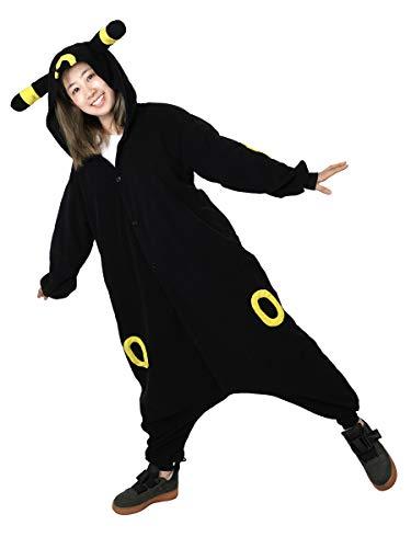 Pokemon Nachtara Jumpsuit | Umbreon Kigurumi für Erwachsene | Einheitsgröße
