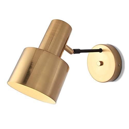 HDDD Nordic slaapkamer bedlampje persoonlijkheid creatieve hal trap wandlamp Amerikaans modern en minimalistisch keuken badkamer enkele kop muur lantaarn met E27 fitting (goud