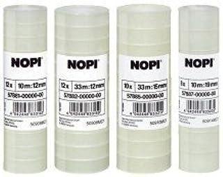 "Nopi Plakfolie NOPI© transparant, PP, onzichtbaar, Bandgr""áe (L x B): 33 m x 15 mm"