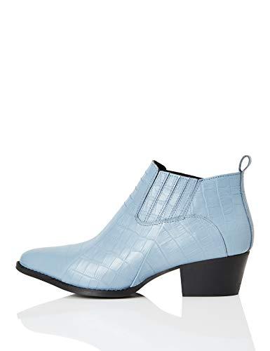 FIND Shoe Boot Cowboystiefel, Blau (Blue Croc), 38 EU
