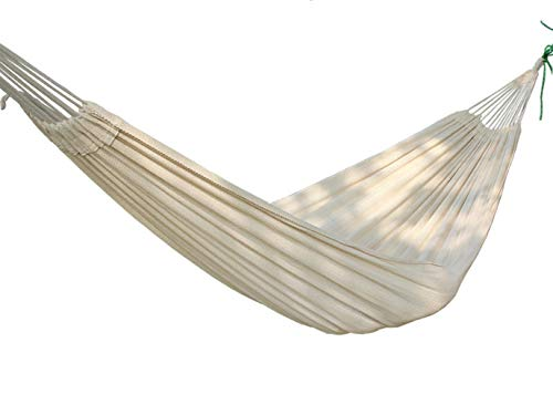 MyWheelieBin Outdoor Leisure Hammock Thick Pure Cotton White Double Hammock Swing Bed (45+200+45)*120cm
