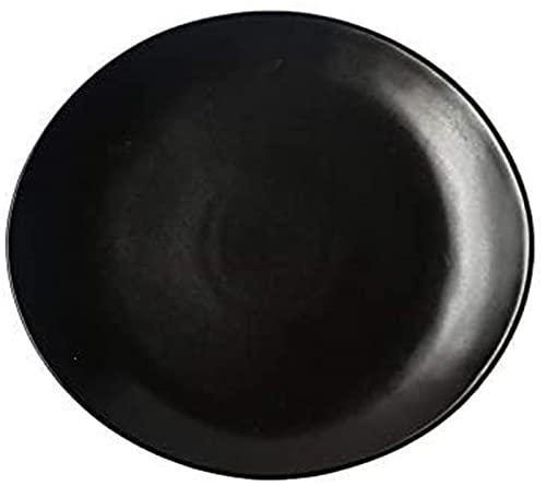 Juego de Platos, Set_Black West Set_Black West Plate Set Steak Placa Ensalada Plato Plato Taza Ensalada Cuenco Hotel, Mercado 29 27 2 cm, Euro Ceramica