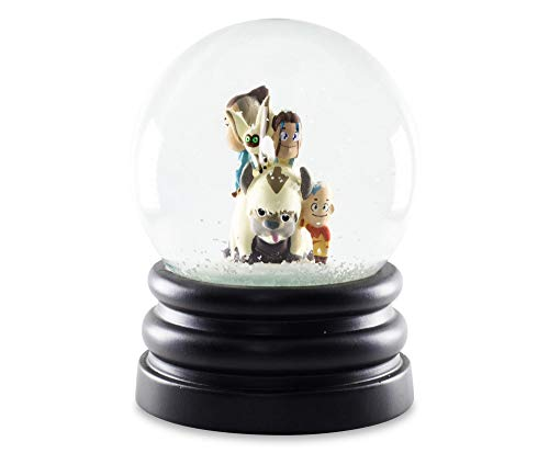 Avatar: The Last Airbender 6-Inch Snow Globe Display Piece Decoration   Chibi Avatar Aang, Katara, Sokka, Momo, and Sky Bison Appa   Official Nickelodeon Collectible   Anime Toys, Novelty Gifts