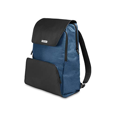 Moleskine City Travel Rugzak voor PC, Device Backpack voor tablet, laptop, iPad en computer tot 15 inch, afmetingen 34 x 20 x 47 cm Blu Boreale