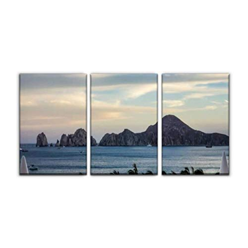 Gracelapin Modern Canvas Painting Mexico Beach Resort Baja California Stock Pictures Royalty Free Wall Art Artwork Decor Printed Oil Painting Landscape Home Office Bedroom Framed Decor (16
