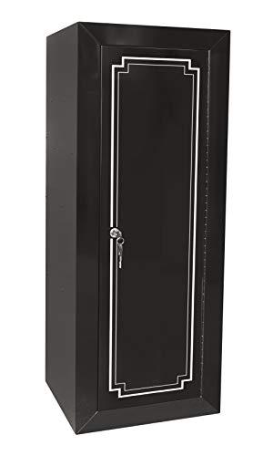 American Furniture Classics Model Durable Steel 18 Metal Security gun cabinet, black