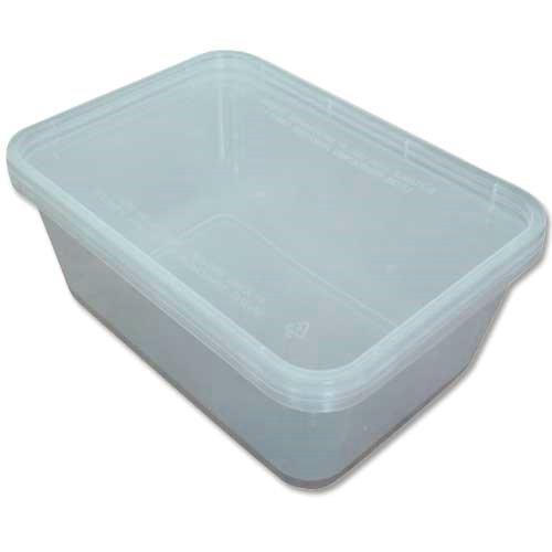 Lot de 15 boîtes alimentaires avec couvercles pour congélateur/lave-vaisselle/micro-ondes – 177 x 122 x 46 mm (650 ml)