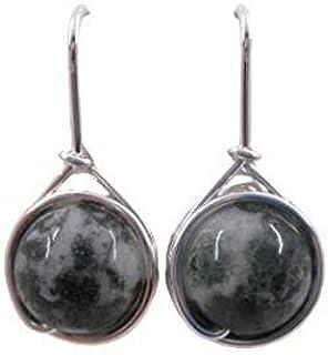 Achat Silber Spiral Schnecken Ohrringe*925er Silber*Geduld*Selbstbewusstsein