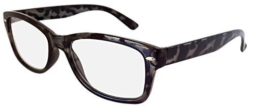 R4007 Lot de 4 paires de lunettes de lecture Noir Monture écaille de tortue 2.50 Look rétro