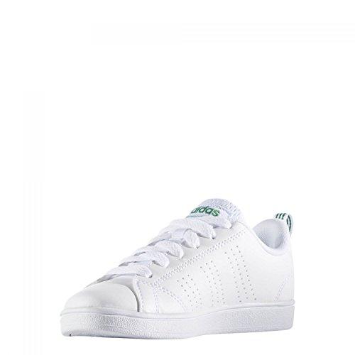 adidas Vs Advantage Cl K, Zapatillas de Deporte Unisex Niños, Blanco (Ftwbla / Ftwbla / Verde), 28 EU