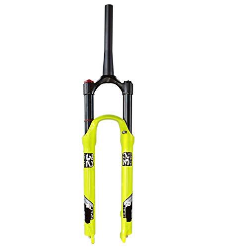 LvTu Bicicleta de Montaña Horquilla MTB Air 26 27.5 29 Pulgadas, Aleación de Magnesio Horquilla de Suspensión MTB Amortiguador Viaje 120mm por 1.5-2.45' Neumático