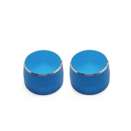 YYAN Cubierta de Interruptor de lámpara de Esfera metálica Ajuste para Mercedes Smart Fortwo 451 2009-2014 Casilla de Equipo de limpiaparabrisas Casquillo Decorativo (Color Name : Blue 2PCS)