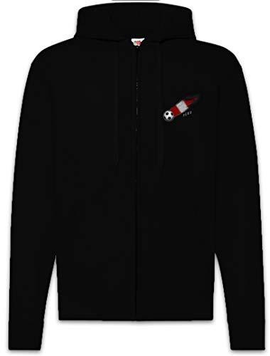Urban Backwoods Peru Football Comet I Sudadera con Capucha Y Cremallera para Hombre Zipper Hoodie Negro Talla XL