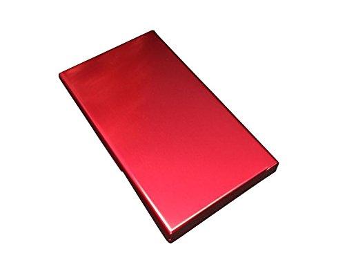 MAGIKON Lightweight Aluminium Cigarette Case for Women, Cigarette Cigar Protective Cover Box (20 Cigarettes, Red)