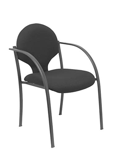 Piqueras Y Crespo PACK220NBALI840 stoelen, zwart, 2 stuks