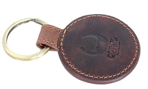 Leder Schlüsselanhänger mit Gravur im Geschenkbox/Geschenk für Männer Frauen Freund Freundin/Schlüsselhalter Auto Corno d´Oro CD102