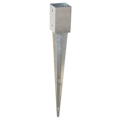 Pfostenträger Einschlaghülse Einschlagbodenhülse Bodenhülse 71x71 mm Höhe 750 mm
