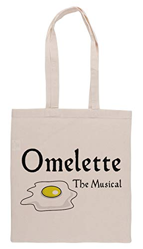 Luxogo Omelette The Musical! (Something Rotten) Einkaufstasche Groceries Beige Shopping Bag