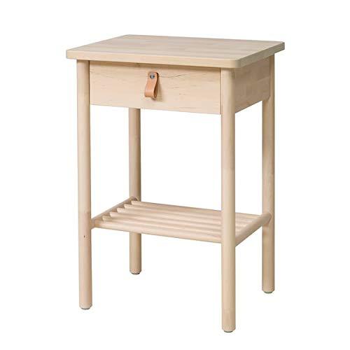MSAMALL BJÖRKSNÄS Nachttisch Birke 48x38 cm robust und pflegeleicht Beistelltisch Beistelltisch Couchtisch Tisch...