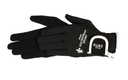Pfiff 101391 Damen Handschuhe, Reithandschuhe Damenreithandschuhe, Schwarz, M