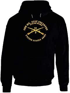 2XLARGE - Army - 3rd Bn 31st Infantry Regt - Polar Bears - Infantry Br Hoodie - Black