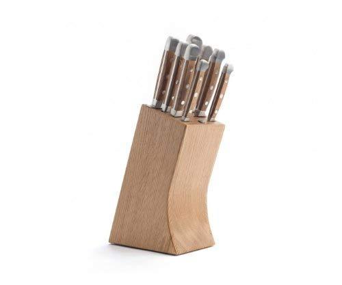 Güde Messerblock 8-E000 Eiche mit 8 Teilen bestückt, Holz, 10