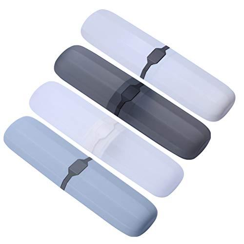DOITOOL - 4 cajas de cepillo de dientes de plástico para viaje,...