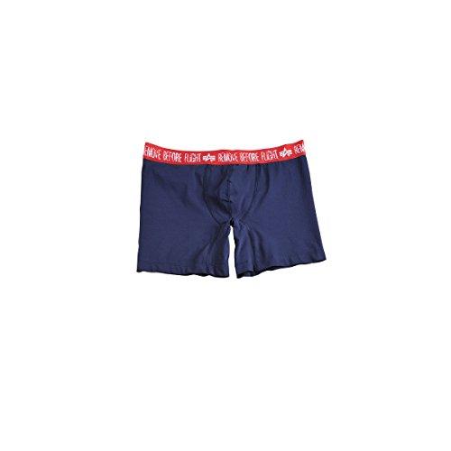 Alpha Industries Herren Boxershorts, Farbe:blau;Größe:S