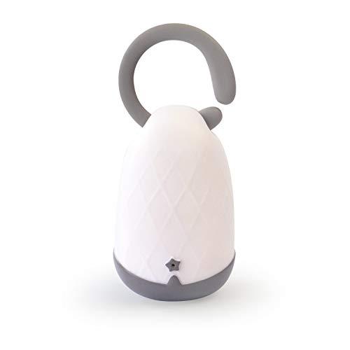 Pabobo - Lumiblo - Veilleuse et Lanterne Nomade Magique pour Enfant - Rechargeable - Fonctionne au souffle - Blanc