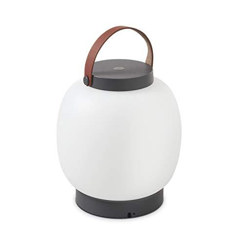 DOPO Lighting - Sobremesa portátil BUBBLE antracita led SMD interior y exterior IP54. Lámpara portátil decorativa para dormitorios, porches, terrazas de residencias y restaurantes o locales.