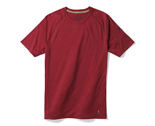 Smartwool Men's Short Sleeve Shirt - Merino 150 Wool Baselayer Performance Top Tibetan Red