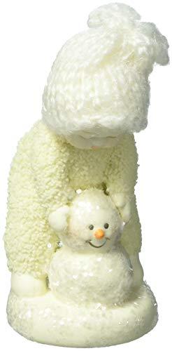 "Department 56 Snowbabies Peace Collection ""Making a Snowman"" Porcelain Hanging Ornament, 3.5"""