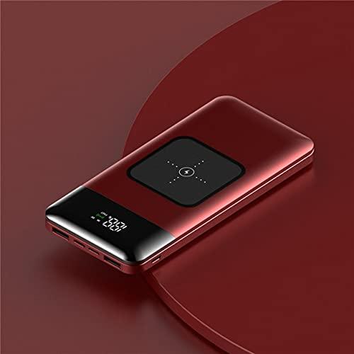 FANGZI Banco de energía20000mah 22.5w Banco de energía de Carga rápida Cargador inalámbrico portátil Poverbank para12 11 Samsung Xiaomi PowerbankRojo