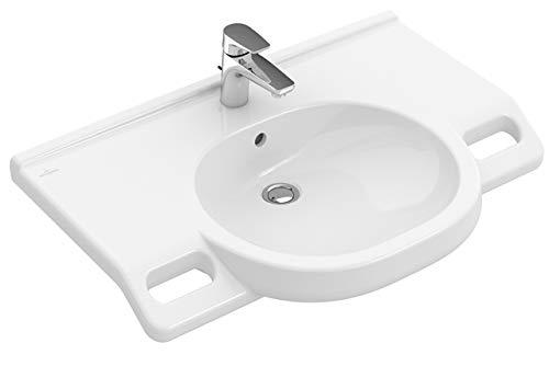 Villeroy&Boch Waschtisch O.novo Vita 4120 800x550mm 3 HLpos n Wunsch ohne Überlauf Oval Weiß Alpin AB C+