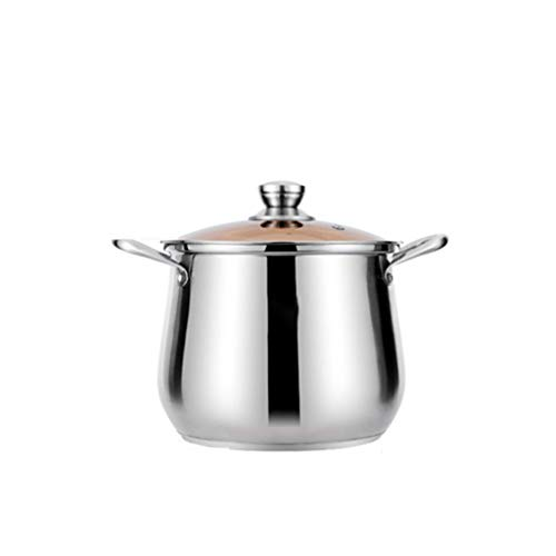 Pot à soupe Pot en acier inoxydable épaississant Double fond Pot à soupe Pot à bouillie de grande capacité (taille : L)
