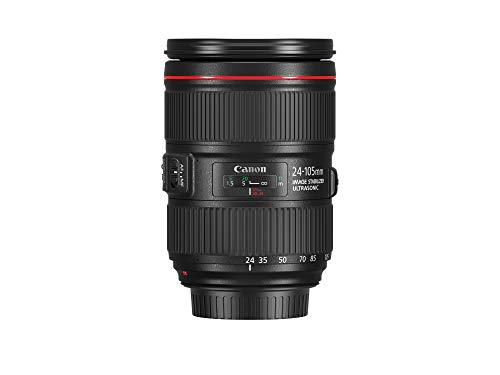 Canon Zoomobjektiv EF 24-105mm F4L IS II USM für EOS (77mm Filtergewinde, Bildstabilisator), schwarz