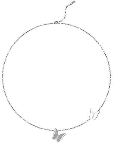ZPPYMXGZ Co.,ltd Collar de Cadena de Mariposa de Moda Colgante de Cadena de clavícula Femenina