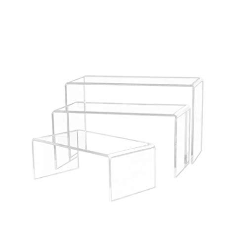 BESPORTBLE Klares Acryl Riser Set Schuhe Display Rack U Form Display Halter für Schmuck Sonnenbrillen Home Shopwiondow Liefert 3 Stück