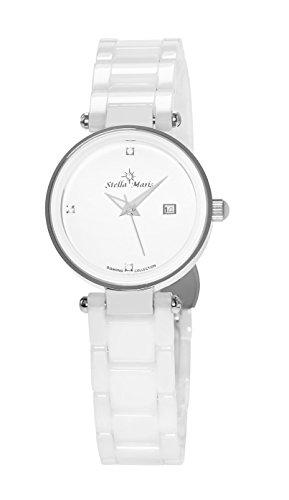 Stella Maris Damen Analog Quarz Uhr mit Keramik Armband STM17H5