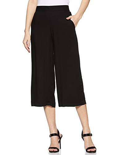 KRAVE Women's Cropped Pants (SS19KRAVEDELLA_BLK_Black_26)