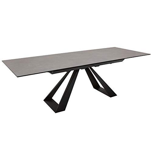 riess-ambiente.de Ausziehbarer Esstisch Concord 180-230cm anthrazit aus Keramik Esszimmertisch Konferenztisch Tisch