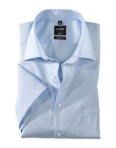 Olymp Luxor Herren Modern Fit Hemd, 0300/12/15, Halbarm, Bleu, 42