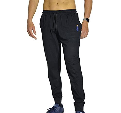 intimitaly Pantalone Uomo Cotone Puro 100% Sport Pantaloni con Tasche Shorts Uomo Cotone Pantalone Corto Estivo Uomo Pantaloni Corti Uomo Sportivi Pantaloncini (M, Nero Jersey, m)