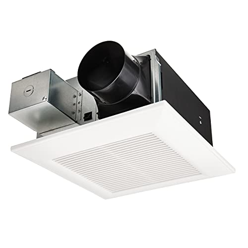 Panasonic FV-0511VF1 WhisperFit DC Retrofit Ventilation Fan, 50, 80 or 110 CFM, Quiet Energy Star Certified Energy-Saving Ceiling Mount Fan, Residential Remodel, UL Listed for Tub or Shower Enclosure when GFCI Protected