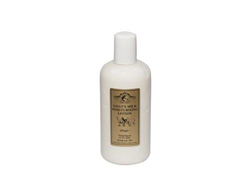 Lotion Hydratante Lait de Chèvre 250ml. Pour le psoriasis eczéma peau sèche Dermatite rosacée Sensible, fabriqué par Elegance Natural Skin Care en Grande-Bretagne
