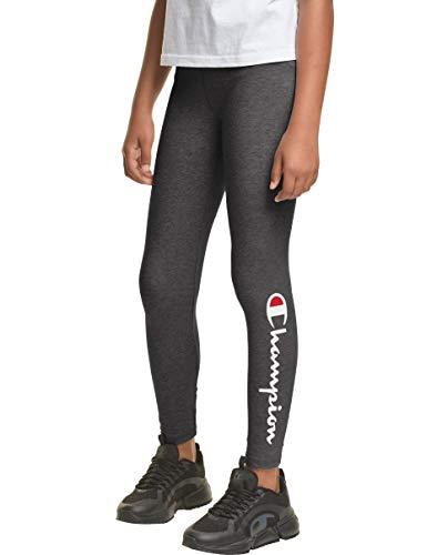 Champion Heritage Girls Stretch Running Performance Legging Pant (Large, Granite Heather)