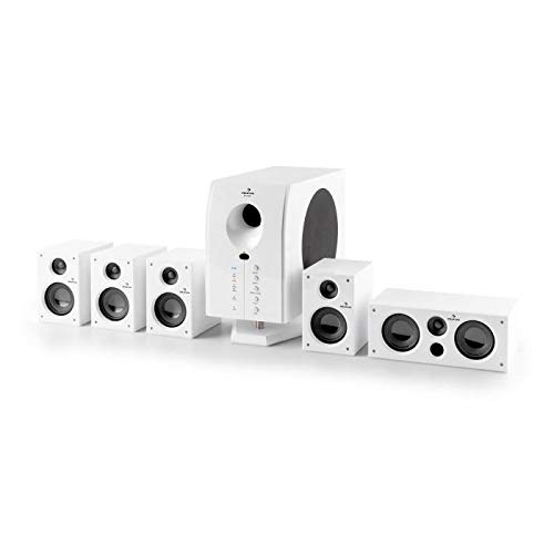 AUNA Area 525 WH - 5.1 Surround Sound System, Home Theater System, 125 Watt...