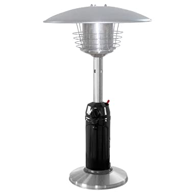 AZ Patio Heaters HLDS032-BSS Portable Table Top Stainless Steel Patio Heater, Black Finish